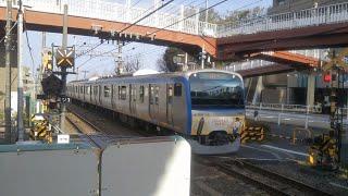 相鉄11000系八代目そうにゃんトレイン 急行横浜行き 三ツ境駅到着