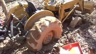 Harbor Freight 12000 winch pulling stuck tractor