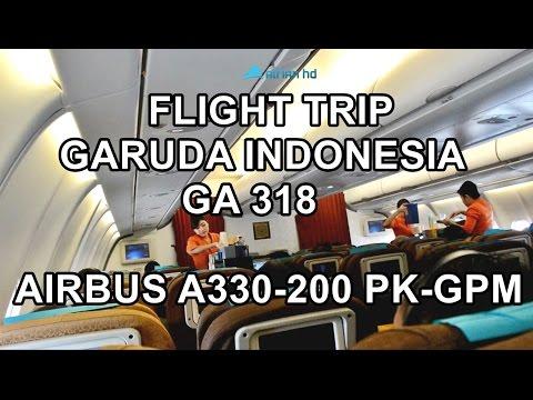 GARUDA INDONESIA | GA 318 | FLIGHT TRIP JAKARTA (CGK) TO SURABAYA