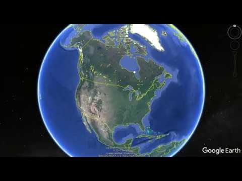 Google Earth - Alberta Tar Sands & Oil Fields - Canada Salt Mine Windsor Ontario