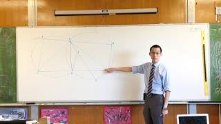 Tough Circle Geometry Question (1 of 3: Finding & using congruent triangles)