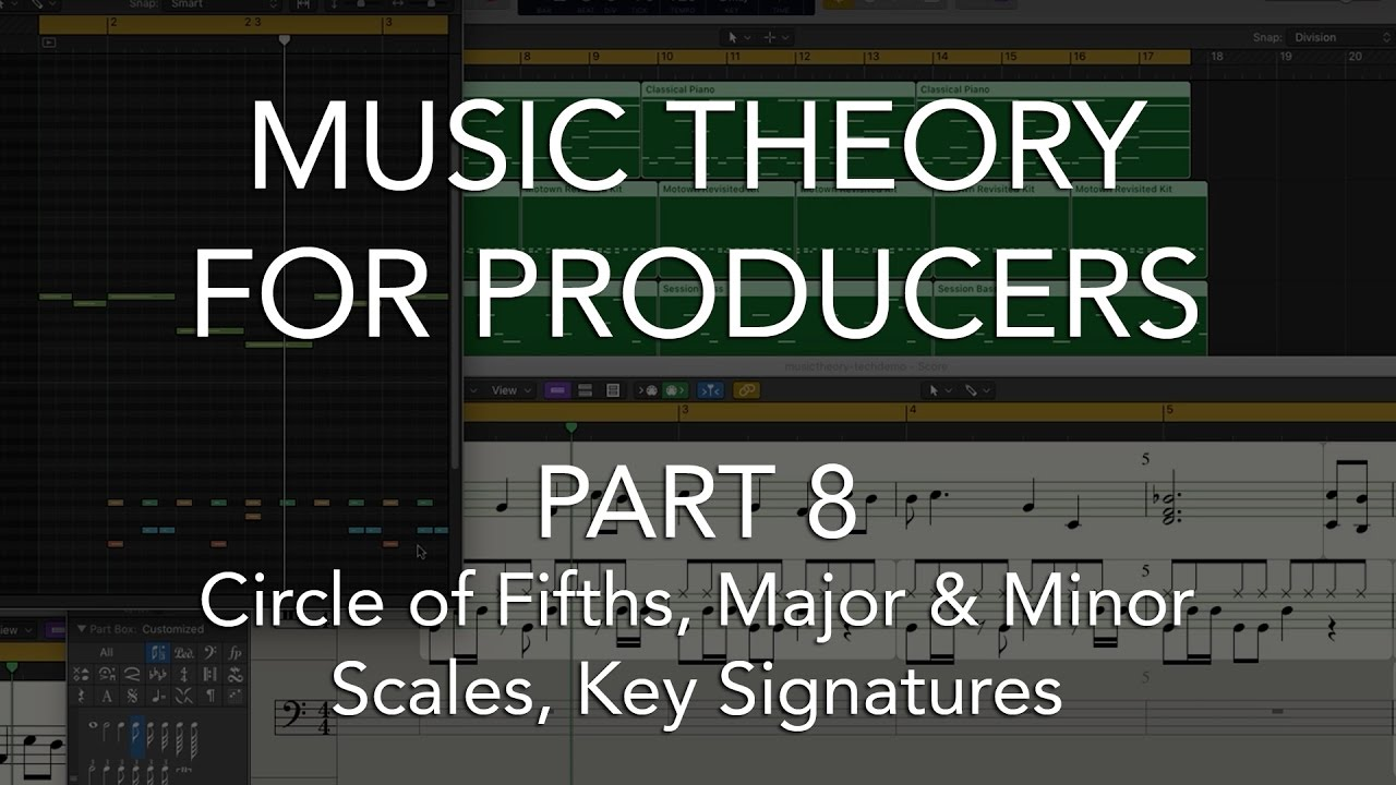 Music Theory for Producers #08 - Circle of Fifths, Major & Minor Scales, Key Signatures