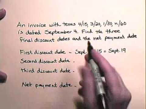 dating and cash discounts Prompt payment cash discounts  excess tax reimbursement for cash discounts   however, the amount paid for the ddi generally has a later expiration date,.