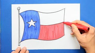 How to draw and color the State Flag of Texas