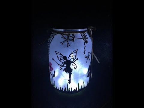 How to Make a Fairy Lantern in a Jar -- DIY Fairy Night Light!