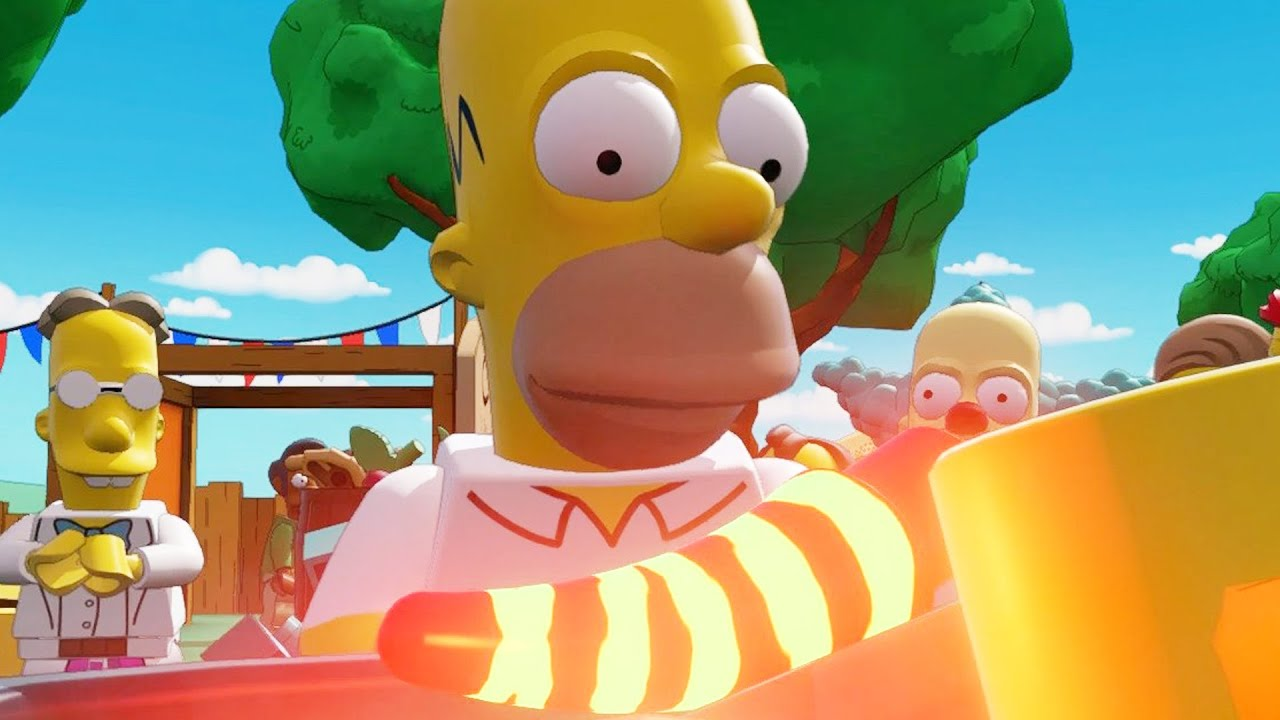 how to build homer lego dimensions