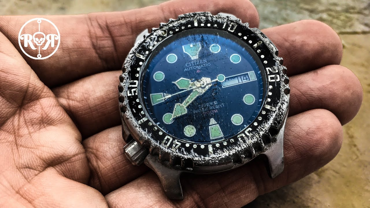 ASMR Restoration of a broken japanese diving watch - Citizen Promaster automatic NY0040