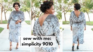 SEW WITH ME: SIMPLICITY 9010: HOLIDAY DRESS