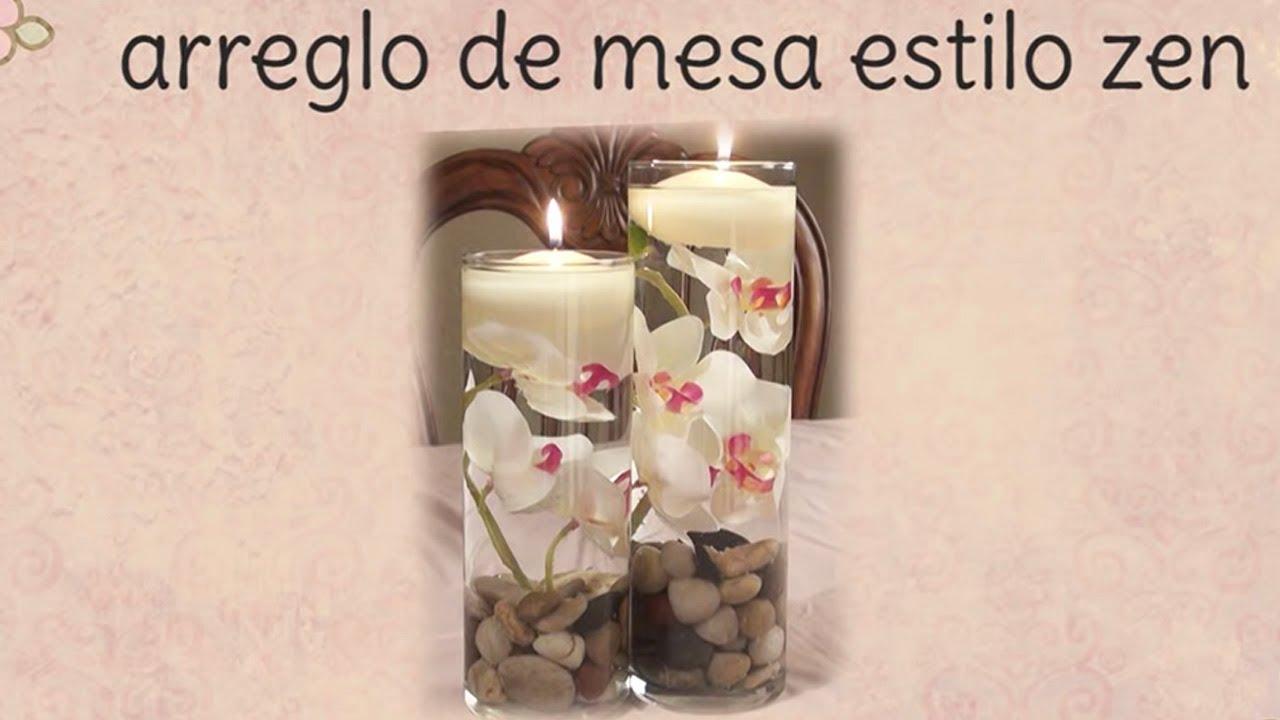 Arreglo floral estilo zen youtube - Mesas con estilo ...