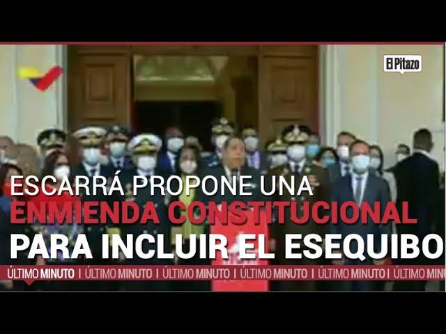 Escarrá propone una enmienda constitucional para incluir al Esequibo como territorio venezolano