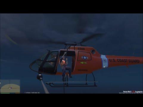 GTA 5   Rescue Mod V By Gangrenn Day 7   US Coast Guard Mod   Rescue Helicopter