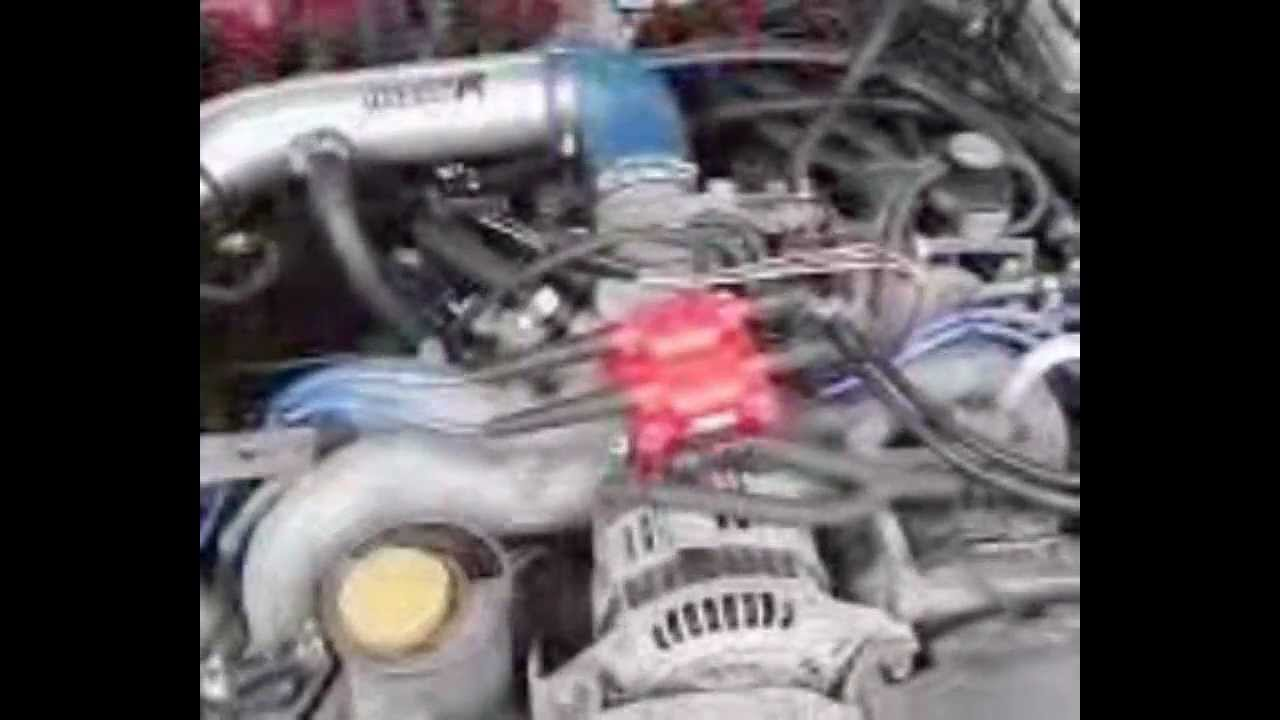 MSD blaster 4-tower coil on 99 Subaru Legacy Outback - YouTube on