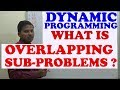 Overlapping SubProblems Property in Dynamic Programming (Example:- Fibonacci series)