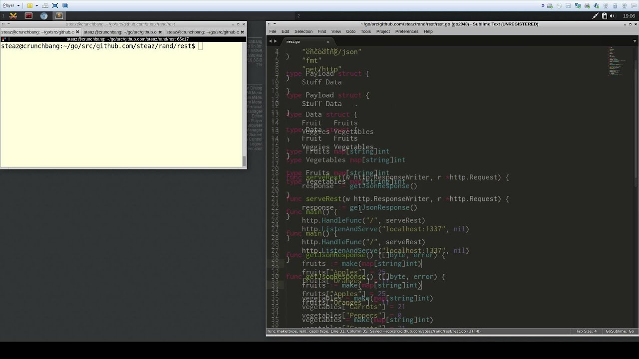 simple json rest api in go tutorial creation consumption youtube