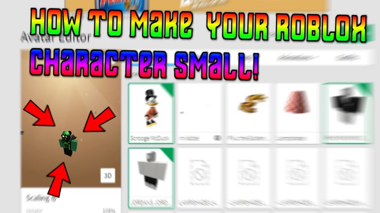 Roblox Mini Head How To Make Your Character Small On Roblox 2017 Working Youtube