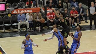 Russell Westbrook Gets Dunked On By John Collins! OKC Thunder vs Atlants Hawks!