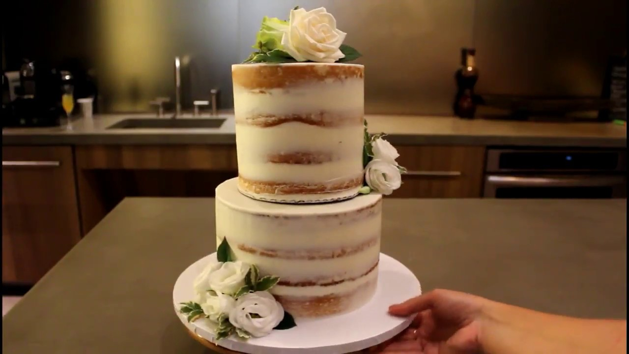 How To Make A Tiered Cake Chelsweets Youtube