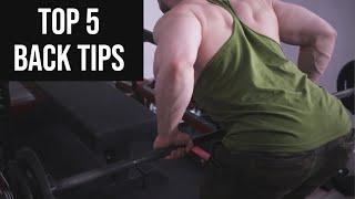 5 Tips For BIG Back Gains