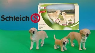Schleich Golden Retriever Family  Farm Life Dogs Review Animal Toys