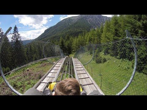 Rodelbahn Alpine Coaster, Imst Austria. Full ride in HQ (1080p 25fps, Go Pro Hero3+ Black Edition)
