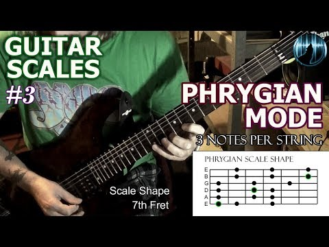 Modes For Guitar #3 | Phrygian Mode | Three Notes Per String Scale
