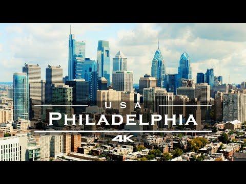 Philadelphia, USA 🇺🇸 - by drone [4K]