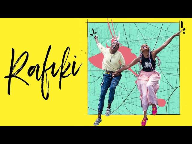 """Bursting with the colorful street style and music of Nairobi's vibrant youth culture, RAFIKI is a tender love story between two young women in a country that still criminalizes homosexuality. Kena and Ziki have long been told that """"good Kenyan girls become good Kenyan wives"""" - but they yearn for something more. Despite the political rivalry between their families, the girls encourage each other to pursue their dreams in a conservative society. When love blossoms between them, Kena and Ziki must choose between happiness and safety."""