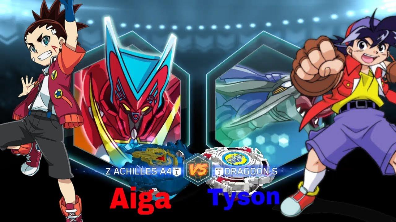 Z achilles a4 vs dragoon s aiga vs tyson beyblade - Tyson beyblade burst ...