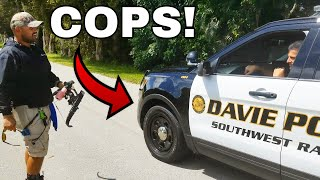 COPS CALLED While BOW-FISHING! (TRIGGERED)