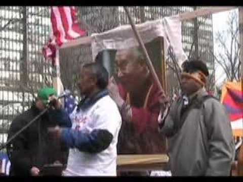 Tibetan Uprising 2008 New York City Part 6 Urgent Action