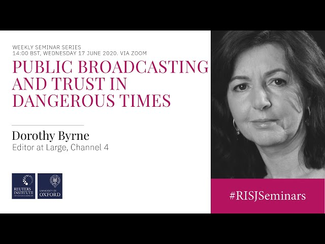 Public sector broadcasting and trust in dangerous times