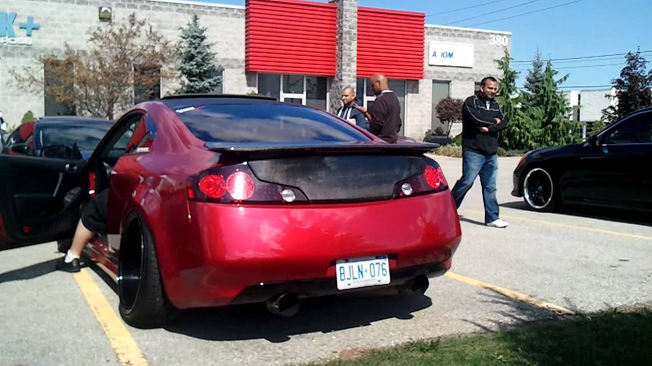 A Very Modded G35 Coupe Exhaust(HFC) - YouTube