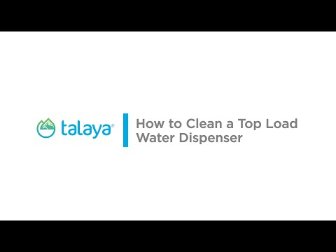 How to clean a top load water dispenser