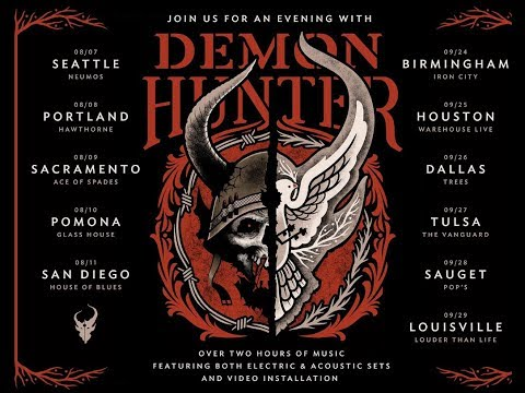Demon Hunter summer tour 'An Evening With' dates announced.. acoustic/electric sets!