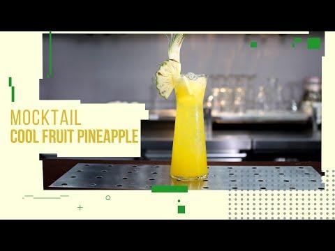 Cách làm Mocktail Cool Fruit Pineapple (Mocktail Dứa) ngon | Hướng Nghiệp Á Âu
