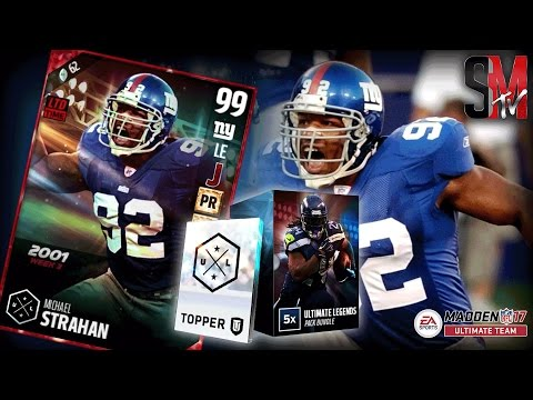 CALLED IT!! - 99 ULTIMATE LEGEND MICHAEL STRAHAN - MADDEN 17 ULTIMATE TEAM PACK OPENING