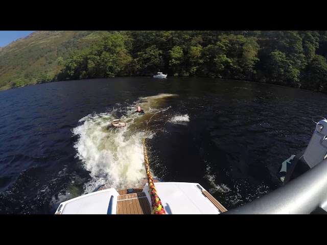 Wake Surfing Loch Lomond