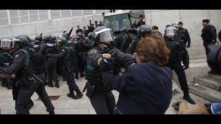 Unabhängigkeitsreferendum in Katalonien: Gewaltsame Auseinandersetzungen vor Wahllokalen