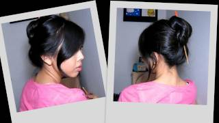 30 Second Chopstick Updo (Great for thick hair!)