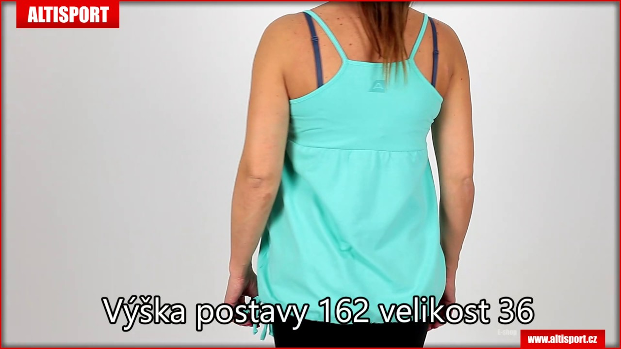 dámské tílko alpine pro frida ltsj243 modrá - YouTube abdc3d8bd5