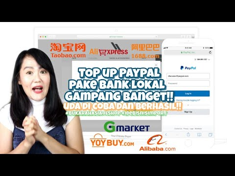 TOP UP PAYPAL PAKE BANK LOKAL KURS MURAH!!.