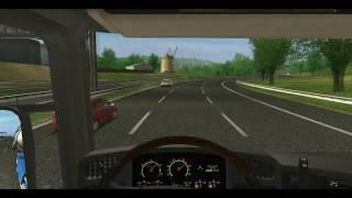 Euro Truck Simulator  HD / Lyon - NewCastle [ PART 1/3 ]