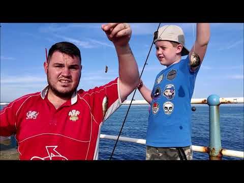 Dad 'n' Lad Lrf Fishing On Weymouth Stone Pier