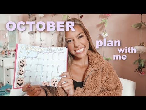 plan with me ~october~ monthly bullet journal set up!
