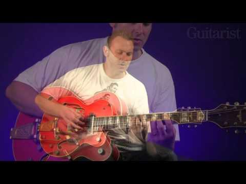 Darrel Higham Using the Bigsby video tutorial Guitarist Magazine HD