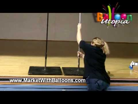 how to make a balloon column frame youtube