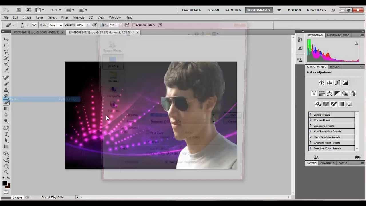 طريقة وضع خلفية للصورة بالفوتوشوب مرتضى علي Youtube