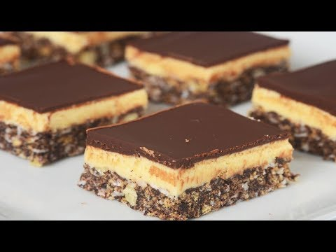 Nanaimo Bars Recipe Demonstration - Joyofbaking.com