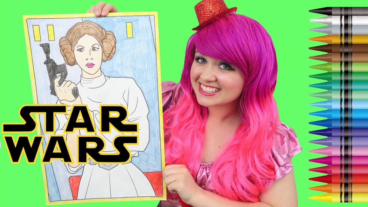 Coloring Princess Leia Star Wars GIANT Coloring Book