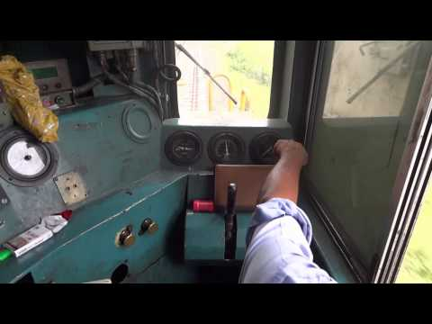 Thumbnail: [IRFCA] Inside WDM2A Loco, Loco Pilot operating the Locomotive